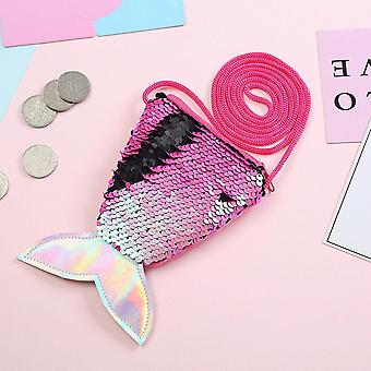 Femmes Mermaid Tail Sequins Coin Purse Crossbody Bags Sling Money Change Card