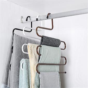 3D Space Saving Hanger Magic Clothes Hanger Multi-Layer Magic Non-Slip S-Type Pants Clip Hanger Multi-Function Wardrobe Storage