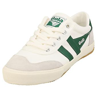 Gola Badminton Womens Casual Trainers in Off White Green