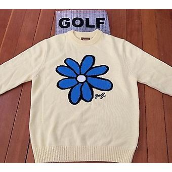 Luxury Men Golf Flower, Casual Sweaters, Pullover