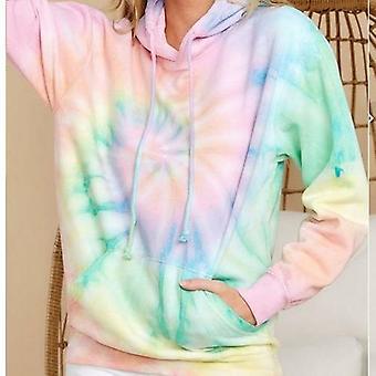 Tie-dye Printed Long Sleeve Hoodies Sweatshirts