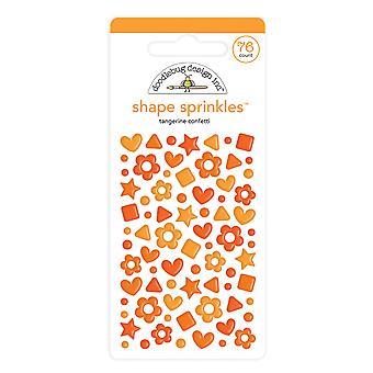 Doodlebug Diseño Tangerine Confeti Forma Sprinkles