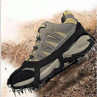 18 Teeth Fishing Ice Snow Shoe Spikes Grips Climbing Camping Anti Slip Shoes