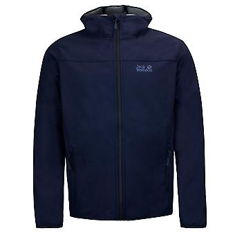 Jack Wolfskin Northern Point Mens Zip Up Hooded Jacket Navy 1304001 1033