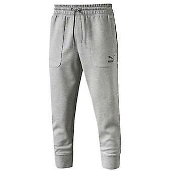 פומה Evo זיעה 3/4 מכנסיים גברים רגילים אפור ריצה שיר תחתיות 570581 03 A109C