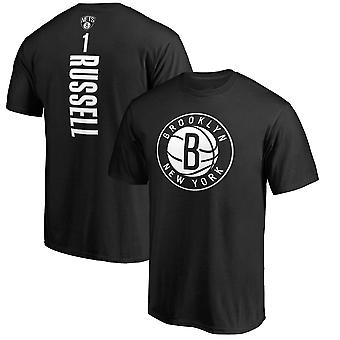 Brooklyn Nets No.1 Russell Short T-shirt Sports Tops 3DX076