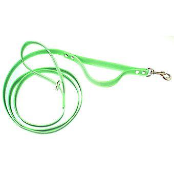 Guard leash in anti-slip, neon green