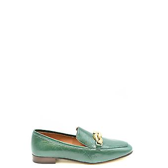 Tory Burch Ezbc074013 Women's Green Leather Loafers