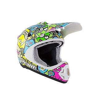 Stealth HD204 Aliens Kids MX Helmet - Pink