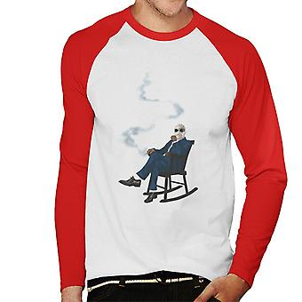 The Invisible Man In Chair Men's Baseball Long Sleeved T-Shirt