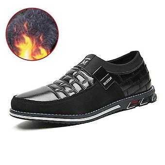 Leather Men Casual Shoes Loafers Moccasins Breathable Slip On Driving