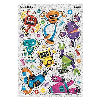 Bots & Bolts Sparkle Stickers, 16 Count