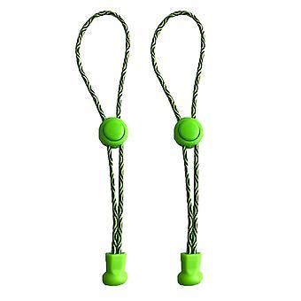 Vihreä pyörre – elastinen ei solmiolukko kengännauhoja