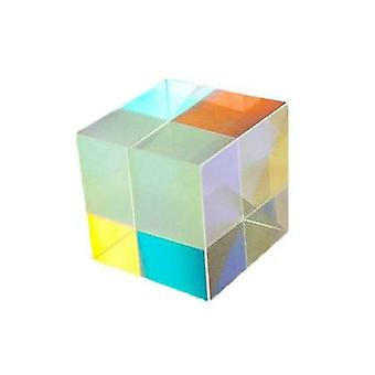 Six-sided X-cube Stained Glass Prism Optical Experiment Instrument
