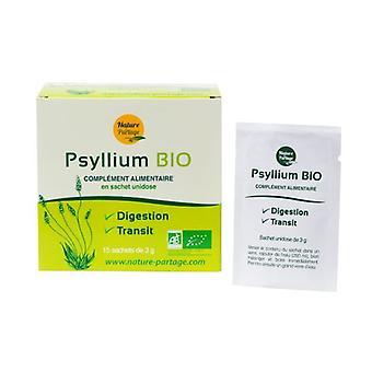 Single dose organic psyllium 15 packets of 3g