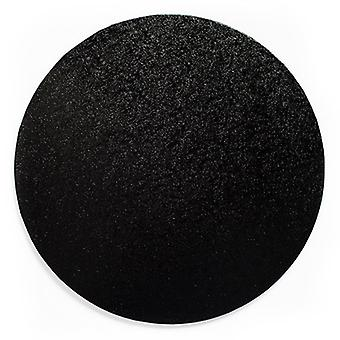 "12"" (304mm) Cake Board Round Black - pojedynczy"