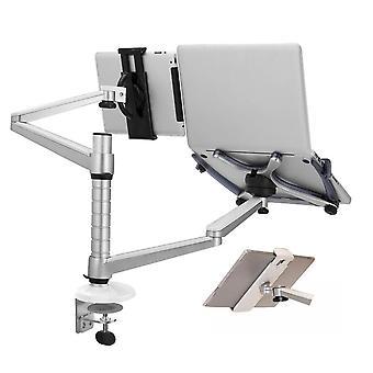 Bracket Stand Adjustable Dual Arm Laptop Alloy Holder