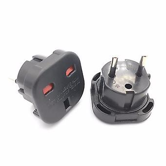 1pc Universal Uk To Eu Plug Converter Power Adapter Charger Socket