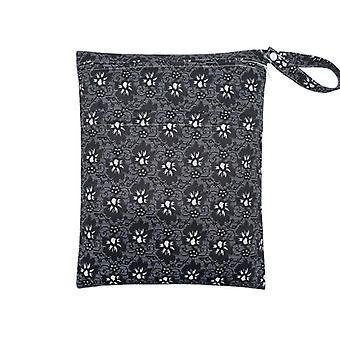 Υγρός ξηρός με δύο zippered αδιάβροχη επαναχρησιμοποιήσιμη τσάντα πάνας πανών μωρών