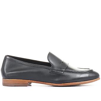 Jones Bootmaker Womens King Bird Leather Penny Loafers