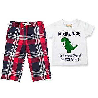 Tochter Dinosaurier Tartan Hose Pyjamas