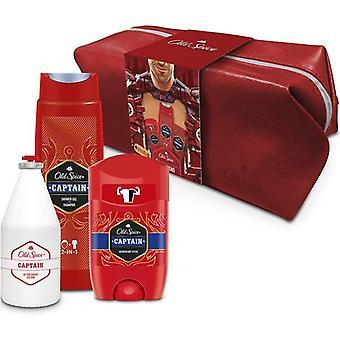 Old Spice Pack Captain Shower gel + shampoo + Desodorante stick +After lotion