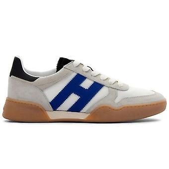 Zapatilla de hombre Hogan H357 Marfil y Ante Azul y Tela