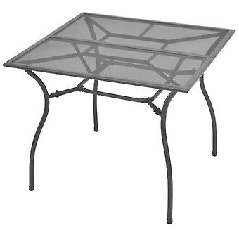 Tavolo da giardino 90x90x72 Cm Rete d'acciaio
