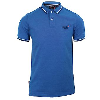 Superdry men's poolside pique true blue twist polo shirt