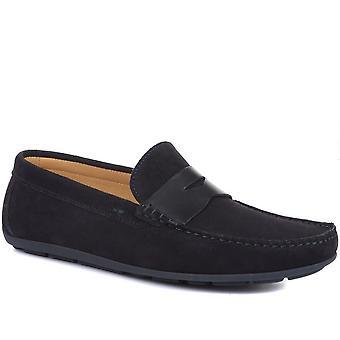 Jones Bootmaker Mens Pierson Semsket skinn loafers