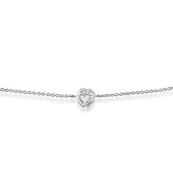 Pulsera clásica de diamantes redondos en oro blanco de 9 qt  117L0014019