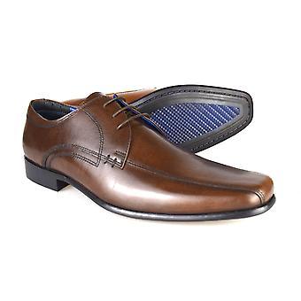 Byrokratiaa Munster ruskea miesten nahka muodollista Lace-ajan kenkiä