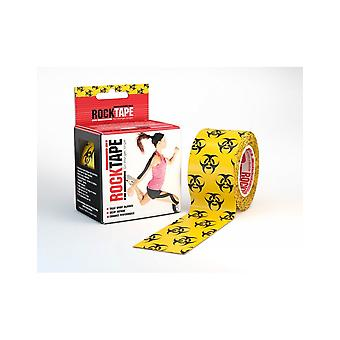 Rocktape Strong Adhesive Kinesiology Tape Patterned Roll - Biohazard