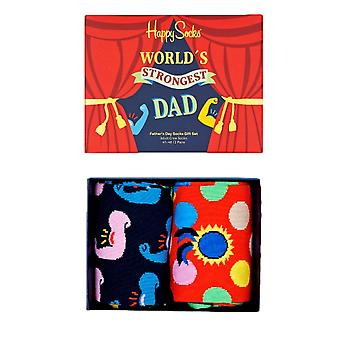 Happy Socks Worlds Strongest Dad Gift Set 2 Pack