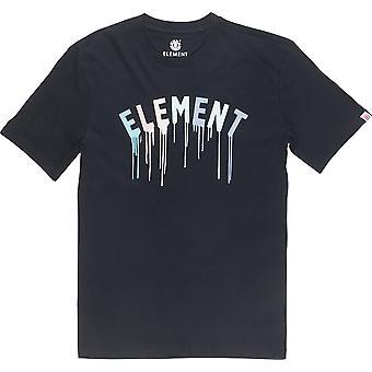 Element Stencil Short Sleeve T-Shirt in Flint Black