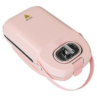 650w Electric Waffle Maker Machine Non-stick Cooking Plates Toaster Adjustable - 220v Pink