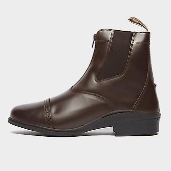 New Brogini Men's Tivoli Front Zip Jodhpur Boots Brown