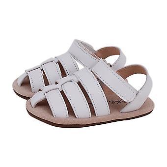 SKEANIE Ziggie Leather Pre-walker Sandals in White