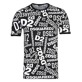 DSquared2 オールオーバープリントTシャツ&トランクセット
