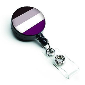 Carolines Treasures  CK8009BR Asexual Pride Retractable Badge Reel