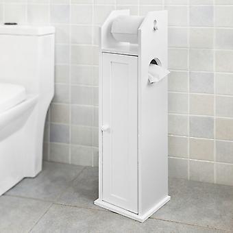 SoBuy gratuit permanent porte-rouleau WC bois, blanc, FRG135-W