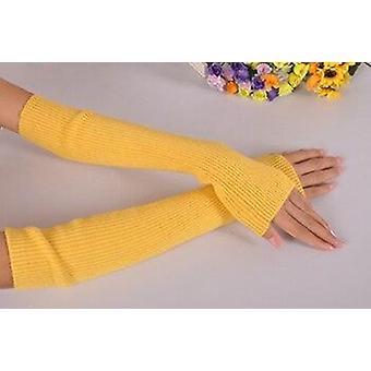 Naisten käsivarrenlämmittimet, kashmirsormettomat pitkät käsineet