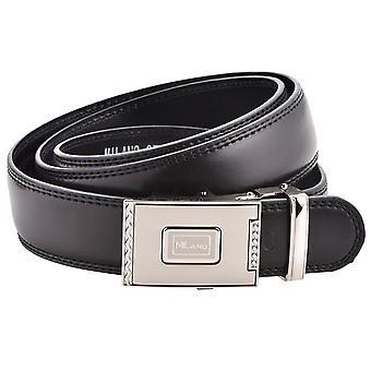 "Men's 35mm ヨ 1.25"" Leather Lined Quick Release Ratchet Belt"