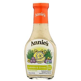 Annie's Homegrown Drssng Ntrl Lemon N Chive, Case of 6 X 8 Oz