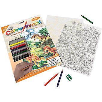 Färgpenna efter Number Kit - Dinosaurs Day