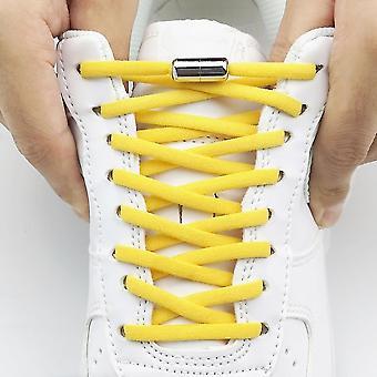مرونة لا التعادل Shoelaces أربطة الأحذية نصف دائرة للأطفال والكبار أحذية رياضية رباط الحذاء سريعة كسول المعادن