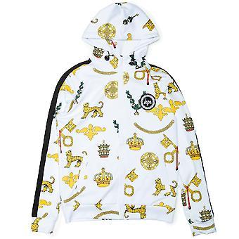 Hype Mens Royal Crest Track Zip Up Sudadera con capucha