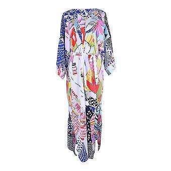 Boho Printed Women Cardigan Beachwear Long Sleeve Bikini Cover Up
