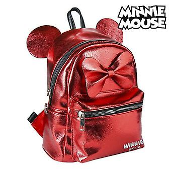 Casual Backpack Minnie Mouse 72822 Red Metallic