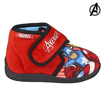 House Slippers The Avengers Red